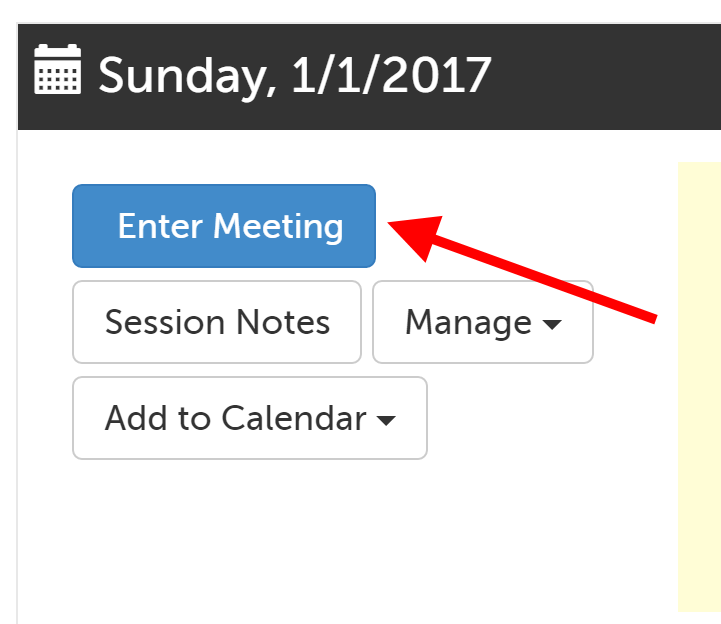 Enter Meeting button
